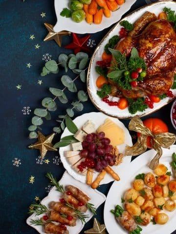 Beef or Pork Tenderloin, Beef or Vegan Wellington, Christmas Ham, Christmas Turkey, and Nontraditional Christmas Dinner Main Course Recipes.